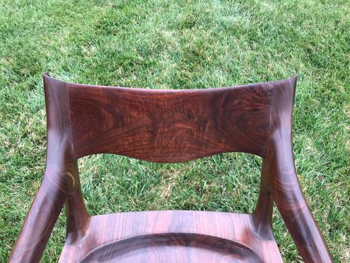 Custom Made Figured Maloof Inspired Sculpted Lowback Chair