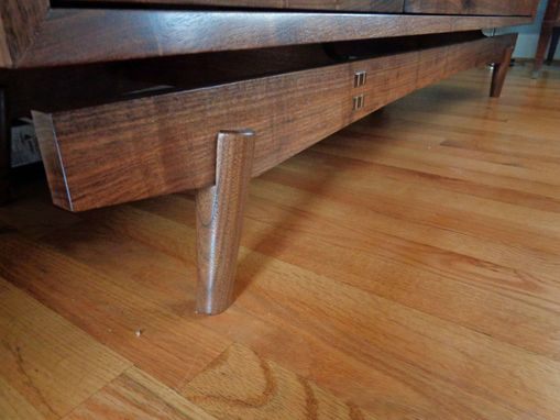 Custom Made Solid Walnut Tv Credenza