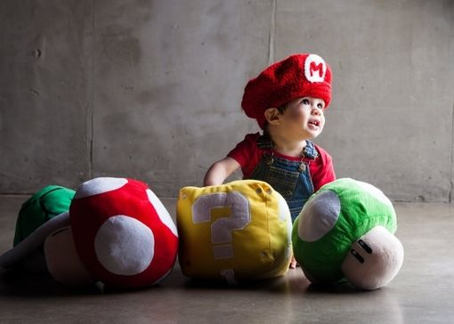 Custom Made Super Mario Infants Hat
