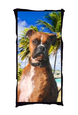 Custom Made Marci The Boxer Pet Portrait