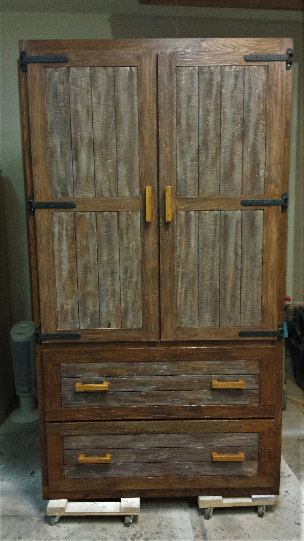 Custom Made Rustic Oak Kitchen Pantry By Chips Splinters Woodworking Custommade Com