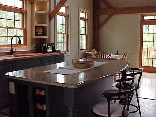 Handmade Timberframe Kitchen Colonial Style By Fineline
