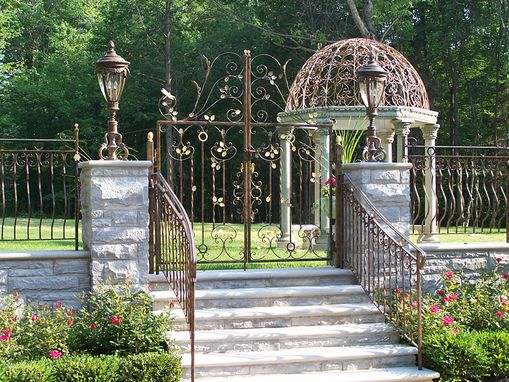 Custom Made Tuscan Style Wrought Iron Gate