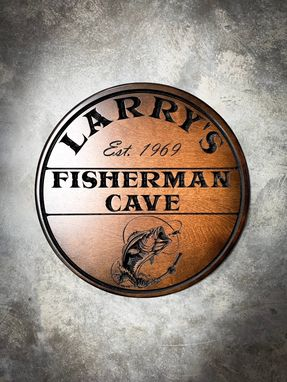 Custom Made Man Cave Sign, Fisherman Cave Sign, Bar Sign, Man Cave, Bar Decor, Fishing, Gift For Men
