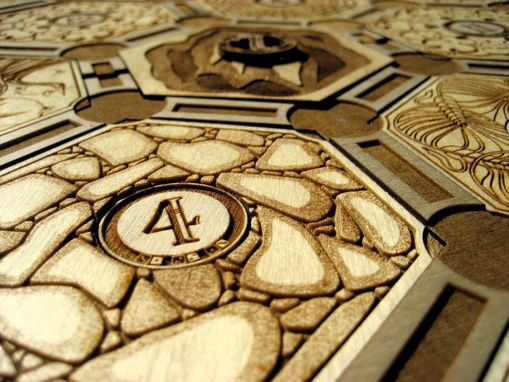Hand Made Laser Cut Settlers Of Catan Board By