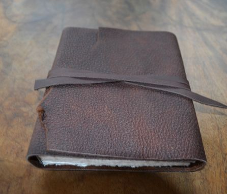 Custom Made Brown Bull Hide Leather Bound Adventure Cowboy Journal Diary