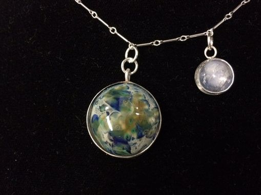 Custom Made Earth And Moon Necklace