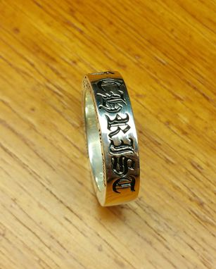 Custom Made Customized Old English Font Wedding Bands/Ring
