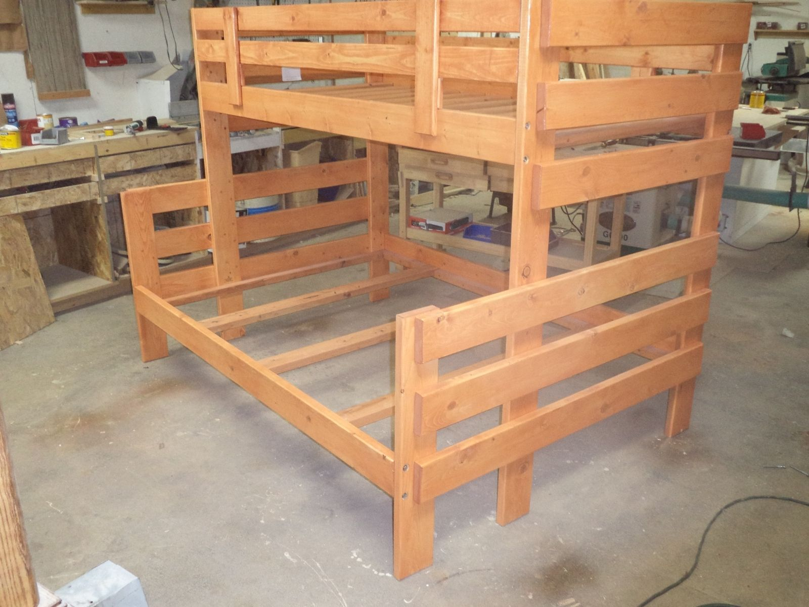 Hand Made Twin Over Full Bunk Bed By Cry N Crick Custom Woodworking