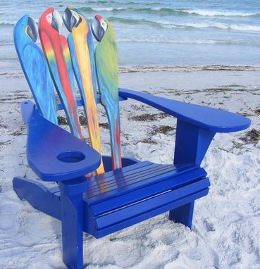 Custom Made Adirondack Chair - Parrot Design