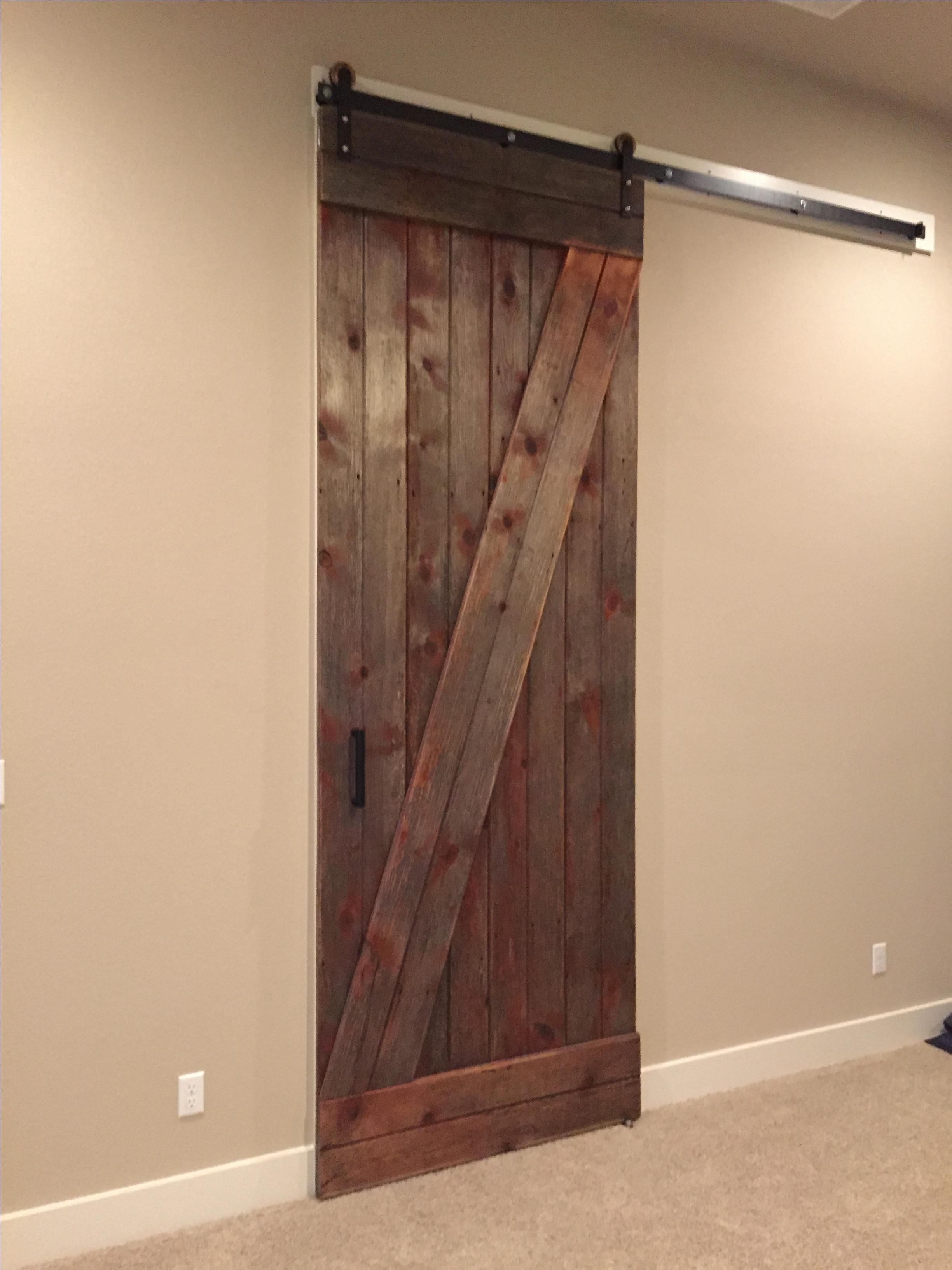 Hand made reclaimed sliding barn door 10 feet tall by for Sliding entry doors