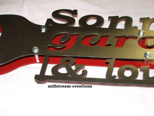 Custom Made Garage Wrench Sign With Custom Wording And Custom Color