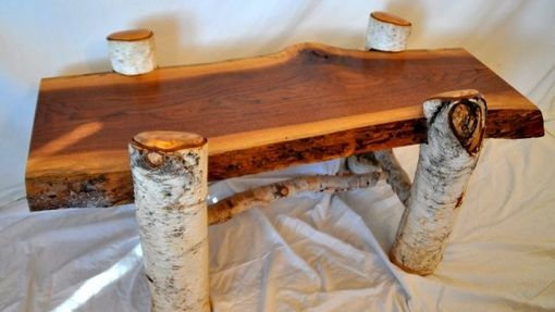 Custom Made Walnut And Birch Coffee Table