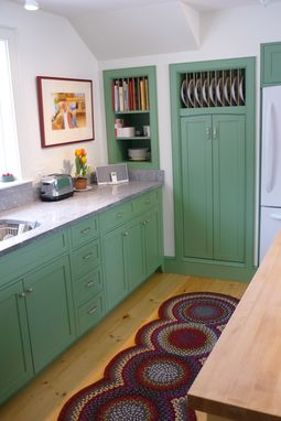 Custom Made Kitchen In Colonial Green By Blue Hill Cabinet