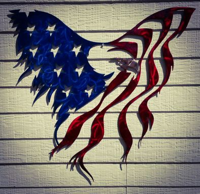 Custom Made American Flag Eagle