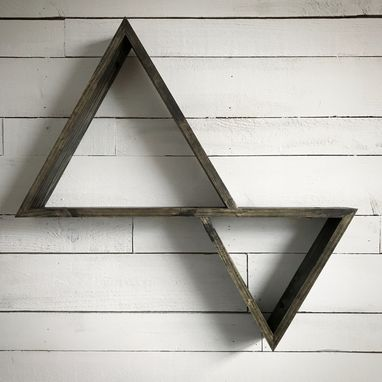 Custom Made Double Triangle Shelf