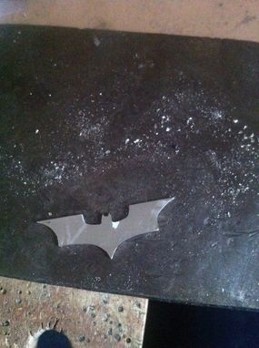 Custom Made Silver Batman Logo