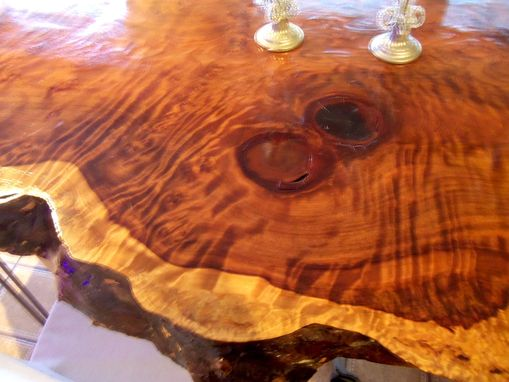Custom Made Live Edge Redwood Kitchen Table