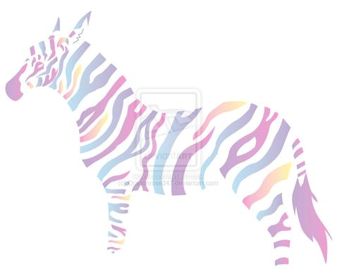 Custom Made Candy Zebra (16x20)