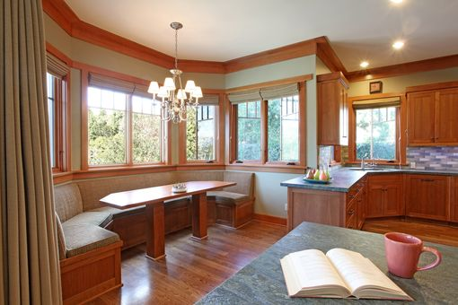 Custom Made Kitchen & Breakfast Cherry Face Frame Cabinets