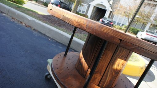 Custom Made Reclaimed Full Spool Coffee Table