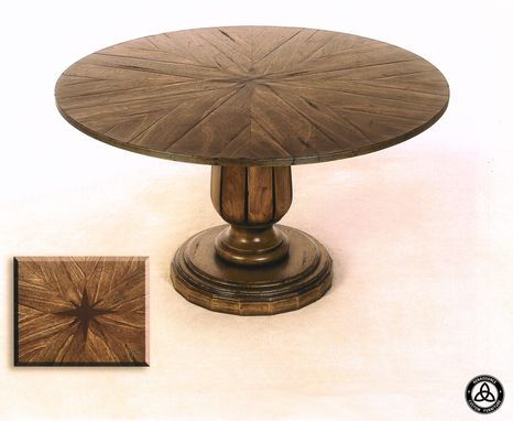 Custom Made #421 Meranti Pie Section Dining Table