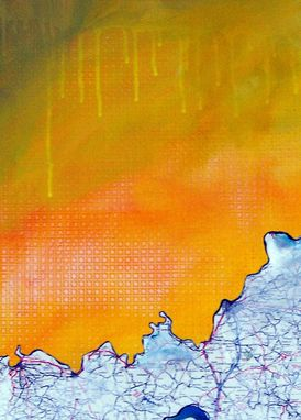 Custom Made Kentucky Mountain - Mountain Painting In Orange- From The In The Mountains Series