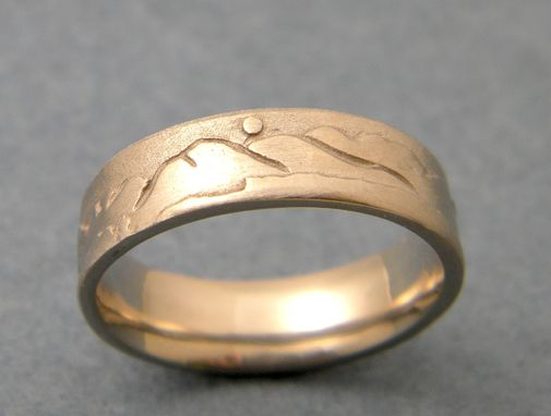 Custom Made Moon And Mountain Ring