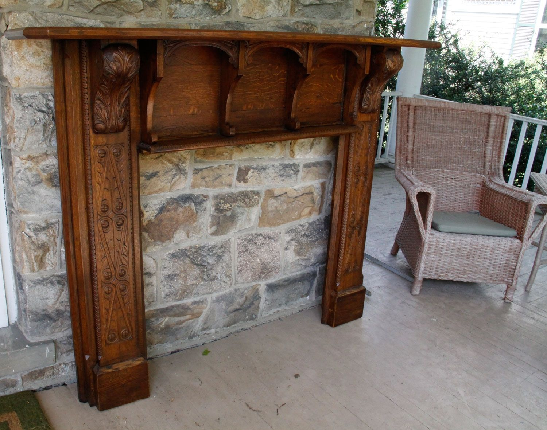 Custom Oak Mantle Restoration by Artisans Of The Valley