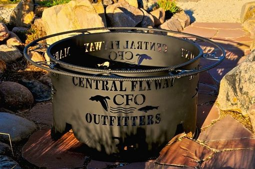 Custom Made Duck Unlimited Themed Fire Pit