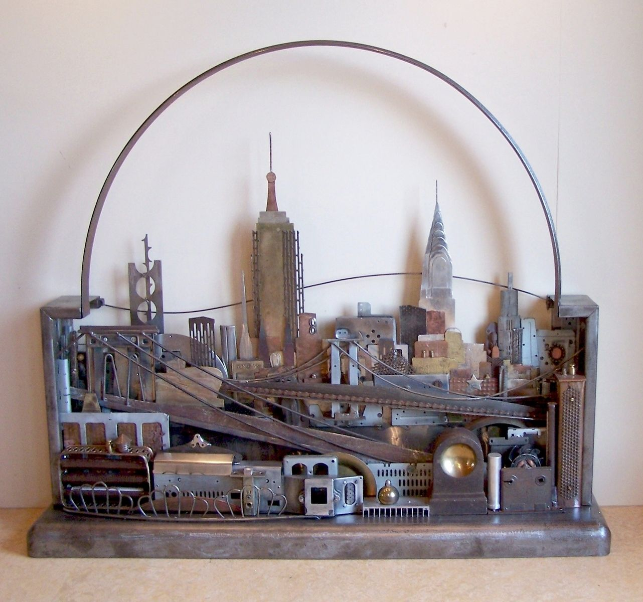 hand crafted metal skyline wall art manhattan seattle london or