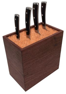 Custom Made Bamboo Skewers Knife Block