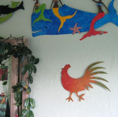 Hand Crafted Handmade Upcycled Metal Rooster Wall Art Sculpture by ...