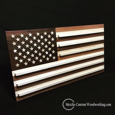 Custom Made American Flag Coin Rack