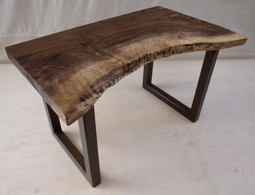 Custom Made Live Edge Walnut Bench