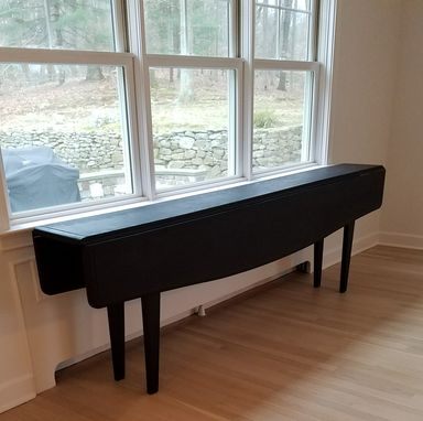 Hand Crafted Narrow Drop Leaf Console That Expands To A