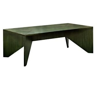 Custom Made Green Bamboo Coffee Table
