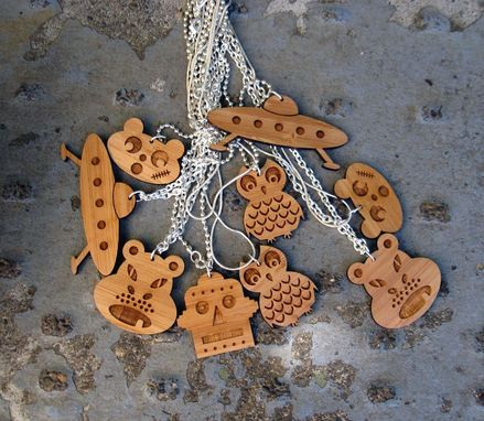 Custom Made Laser Cut Bamboo Necklaces