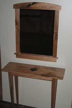 Custom Made Sweet Gum Hall Table And Mirror