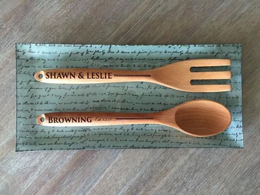 Custom Made Personalized Decorative Wooden Spoon And Fork Set