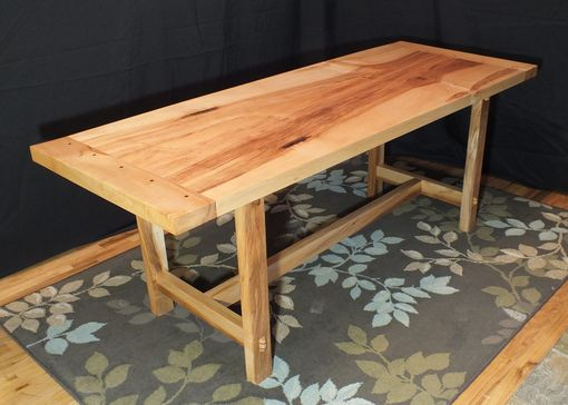 Custom Made Maple Tresle Table