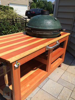 Custom Made Custom Big Green Egg Table