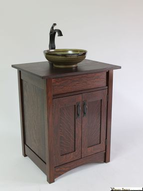 Custom Made Mission Style Artsink Vanity