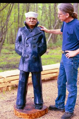 Custom Made Chainsaw Carvings - Figures