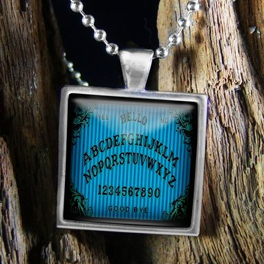 Custom Made Sterling Silver Victorian Ouija Board Necklace 46-Ssn
