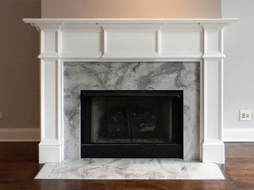 Custom Made Modern Chicago Wood Mantel