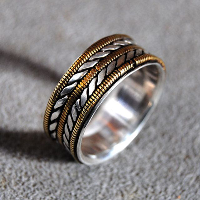 A Hand Crafted Mens Wedding Ring With Bronze Guitar Strings For Musician Wide Made To Order From Ricco Art Jewelry Custommade