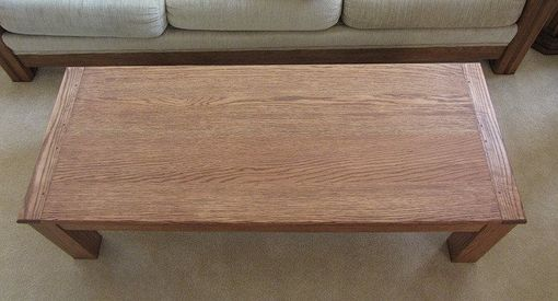Custom Made Oak Coffee Table With Breadboard Ends