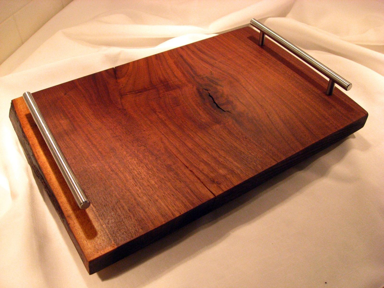 Handmade Live Edge Black Walnut Serving Tray By Krwstudios