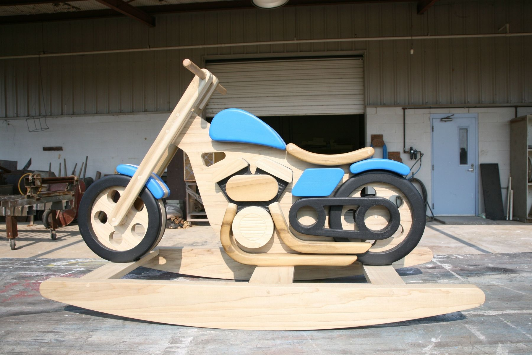 Custom Motorcycle Rocking Horse By Digital Processes Llc